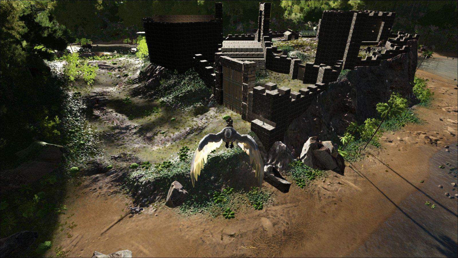 Castle Walls and Auto-Gun Turrets