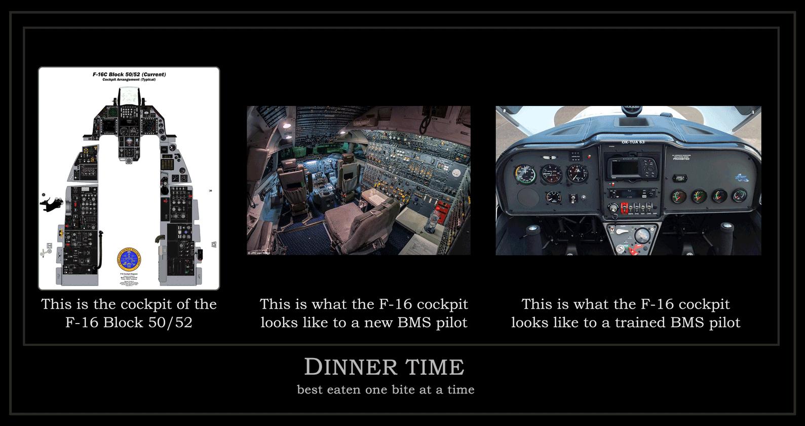 F-16 Cockpit ..so many buttons